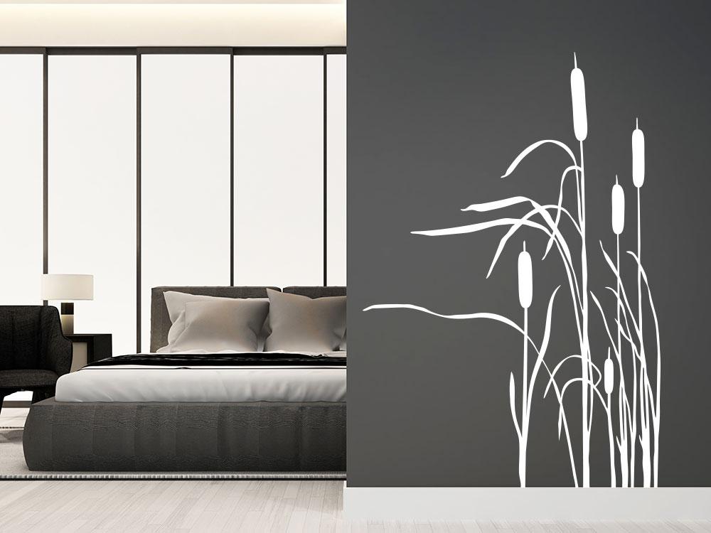 Wandtattoo Seegras in der Farbe Weiß