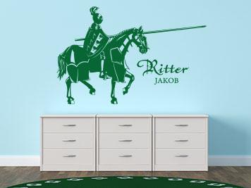 Rauputz Auf Tapete Streichen : Ritter zu Pferd als Wandtattoo Wandgestaltung Kinderzimmer