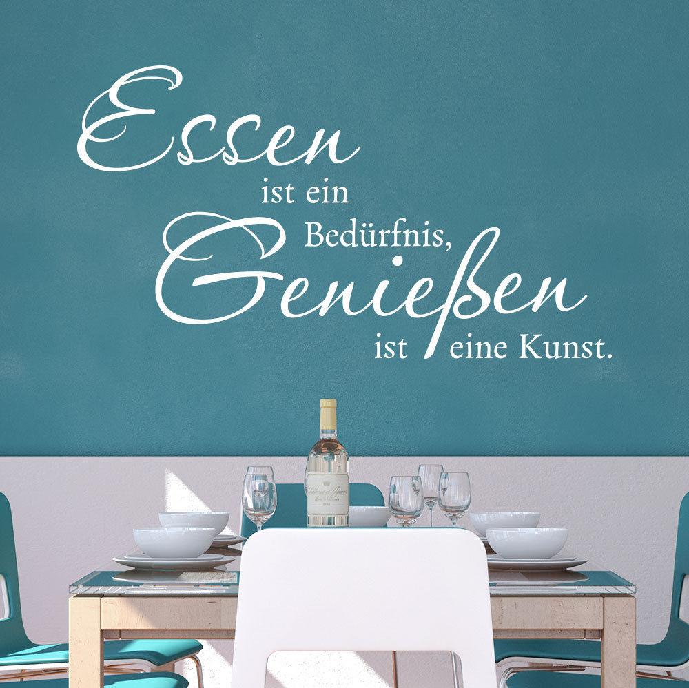 Details Zu Wandtattoo Essen Ist Ein Bedürfnis Genießen Eine Kunst Spruch Klebeheld