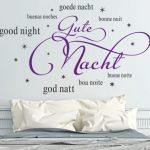 Wandtattoo Motiv Schlafzimmer - Gute Nacht