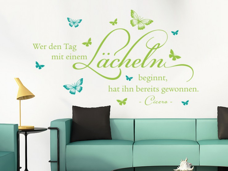 Emejing Wandtattoo Wohnzimmer Grun Pictures - House Design Ideas