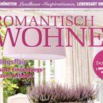 """Im Wohnmagazin """"Romantisch Wohnen"""" sind in der Februarausgabe 2015 Wandtattoo Motive von Klebeheld zu sehen"""